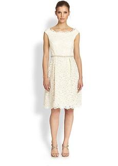 Teri Jon Lace Off-Shoulder Dress