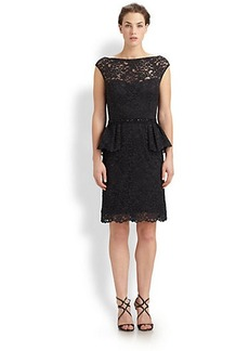 Teri Jon Lace Peplum Dress