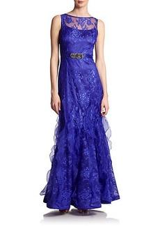 Teri Jon Organza & Lace Gown