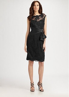 Teri Jon Sequined Lace Dress