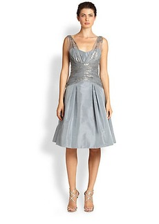 Teri Jon by Rickie Freeman Sleeveless Taffeta Party Dress