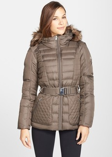 The North Face 'Parkina' Hooded Down Jacket with Faux Fur Trim