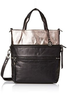 The Sak Brea Convertible Tote Cross Body Bag, Black Sparkle, One Size