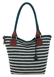 The Sak Cambria Large Tote Shoulder Bag, Vintage/Eggshell Stripe, One Size