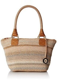 The Sak Cambria Medium Satchel Top Handle Bag, Sand Stripe, One Size