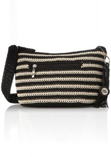 The Sak Casual Classics Small Hobo Shoulder Bag, Black/Eggshell Stripe, One Size