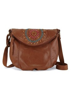 The Sak Deena Flap Crossbody Bag, Tobacco Multi Whipstitch, One Size
