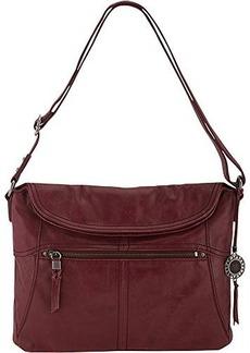 The Sak Esperato Flap Hobo Convertible Cross Body Bag, Cabernet, One Size