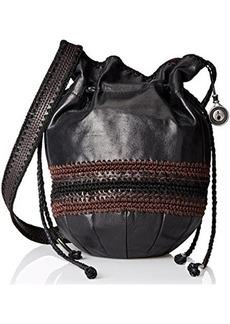 The Sak Heritage Drawstring Shoulder Bag, Black, One Size