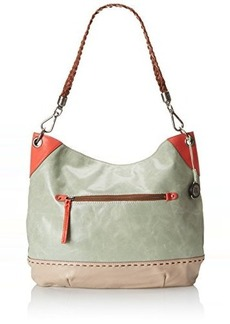 The Sak Indio Hobo Shoulder Bag, Seafoam/Shiitake Block, One Size