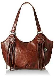 The Sak Indio Satchel Bag, Teak Fringe, One Size