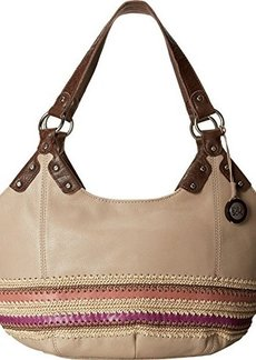 The Sak Indio Satchel, Pink Stripe, One Size