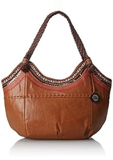 The Sak Indio Satchel Top Handle Bag, Tobacco Ribbon, One Size