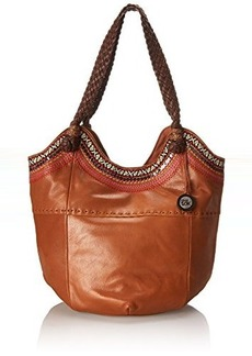 The Sak Indio Tote Shoulder Bag, Tobacco Ribbon, One Size