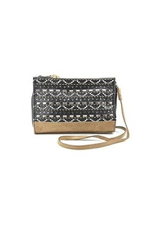 The SAK Iris Clutch,Black Tribal Perforated,One Size