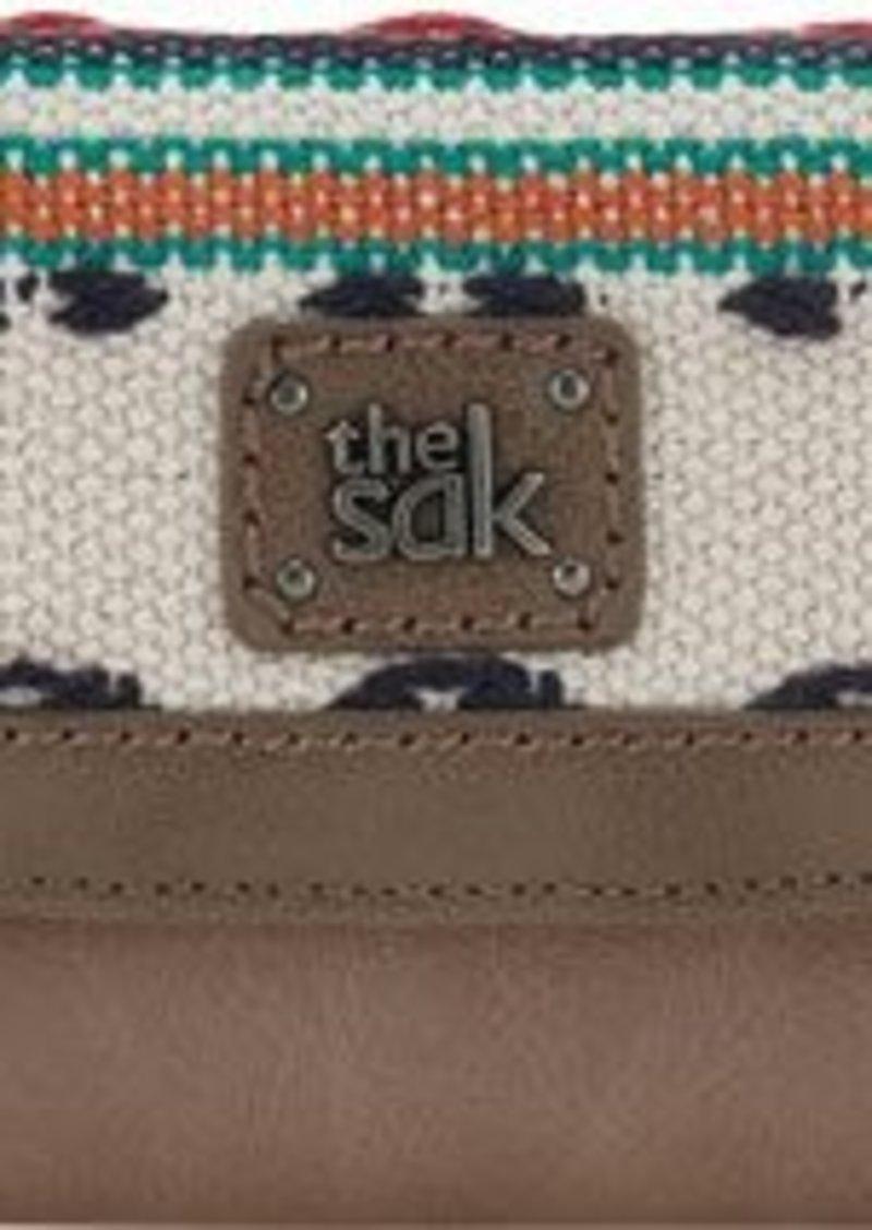 The Sak Iris Flap Wallet, Shitake Loom, One Size