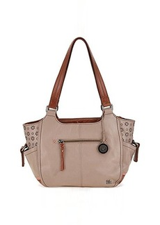 The Sak Kendra Satchel Top Handle Bag, Shiitake Floral Perforated, One Size