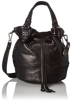 The Sak Mateo Drawstring Shoulder Bag, Black, One Size