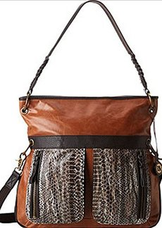 The SAK Pax Large Cross Body Bag,Brown Snake Multi,One Size