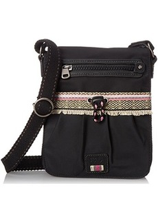 The Sak Sak Pack Nylon Small Flap Cross Body Bag, Black, One Size