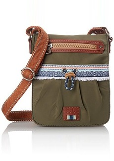The Sak Sak Pack Nylon Small Flap Messenger Cross Body Bag, Olive, One Size