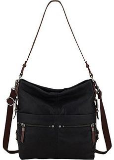 The SAK Sanibel Bucket Shoulder Bag,Black,One Size