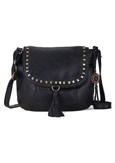 The Sak Serrano Saddle Cross Body Bag, Black, One Size