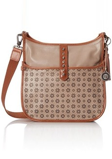 The Sak Vista Cross Body Bag, Shiitake Floral Perforated, One Size