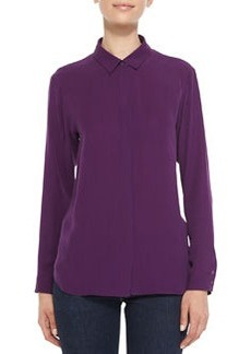 Aquilina Double-Georgette Loose Top   Aquilina Double-Georgette Loose Top