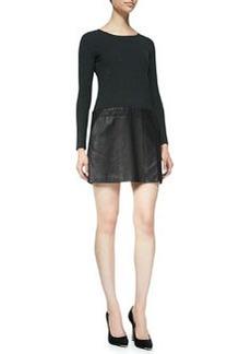 Bowmont Knit/Leather Combo Dress   Bowmont Knit/Leather Combo Dress