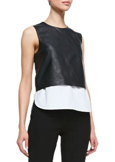 Easeful Hodal L Leather Crop Top   Easeful Hodal L Leather Crop Top