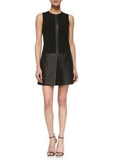 Easeful Lambskin & Ponte Sleeveless Dress   Easeful Lambskin & Ponte Sleeveless Dress