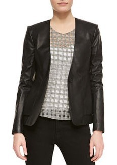 Easel V-Neck Leather Blazer   Easel V-Neck Leather Blazer