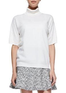 Gredda Short-Sleeve Turtleneck Sweater   Gredda Short-Sleeve Turtleneck Sweater