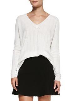 Kommie Perforated Knit Loose Sweater   Kommie Perforated Knit Loose Sweater