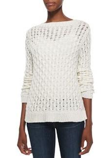 Koralyn Wide-Stitch Knit Sweater   Koralyn Wide-Stitch Knit Sweater