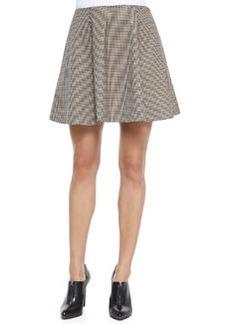 Merlock Plaid A-Line Short Skirt   Merlock Plaid A-Line Short Skirt