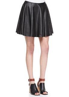 Merlock Pleated Leather Short Skirt   Merlock Pleated Leather Short Skirt