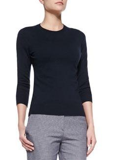 Mirzi Banded-Trim Knit Sweater   Mirzi Banded-Trim Knit Sweater