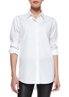 Nareen Poplin Button-Front Shirt   Nareen Poplin Button-Front Shirt