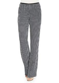 Pajeema Striped Pull-On Pants   Pajeema Striped Pull-On Pants