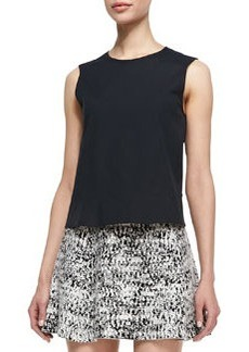 Palatial Sleeveless Stretch-Cotton Top   Palatial Sleeveless Stretch-Cotton Top
