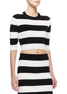 Prosecco Harmona S Striped Crop Top   Prosecco Harmona S Striped Crop Top