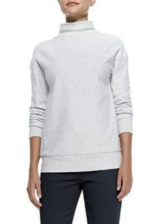 Renika Mock-Neck Knit Sweatshirt   Renika Mock-Neck Knit Sweatshirt