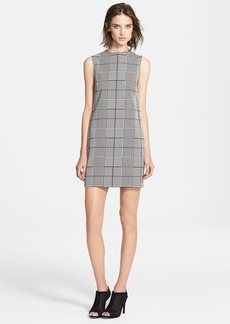 Theory 'Adraya' Houndstooth Cotton Blend Shift Dress