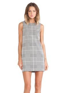 Theory Adraya Plaid Jacquard Dress