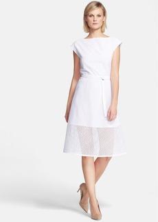 Theory 'Afala' Eyelet A-Line Dress