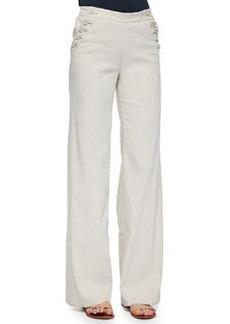 Theory Alrigo High-Waisted Linen Pants