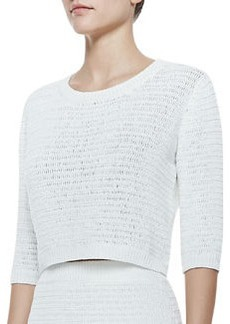Theory Arabis Cropped Knit Sweater