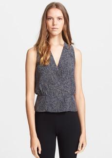 Theory 'Camara' Tweed Print Silk Top